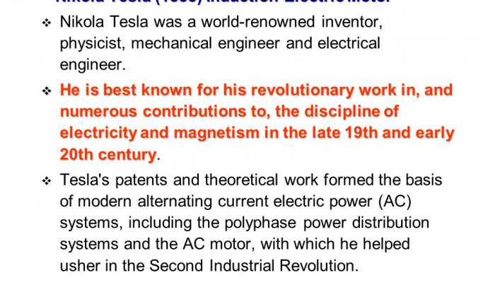 Induction electric motor Nikola Tesla